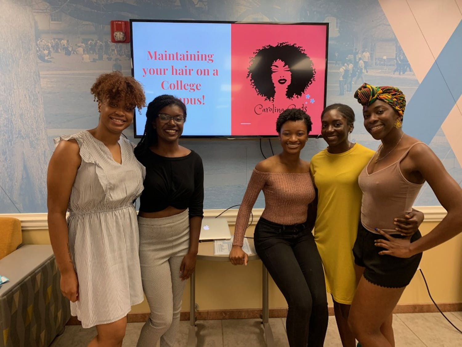 """Members of Carolina Curls gathered on Oct. 7 for their second annual brunch, which had the theme """"Maintaining your Hair on a College Campus."""" Photo courtesy of Kennedy Parkins and taken by Darryl Shaw."""