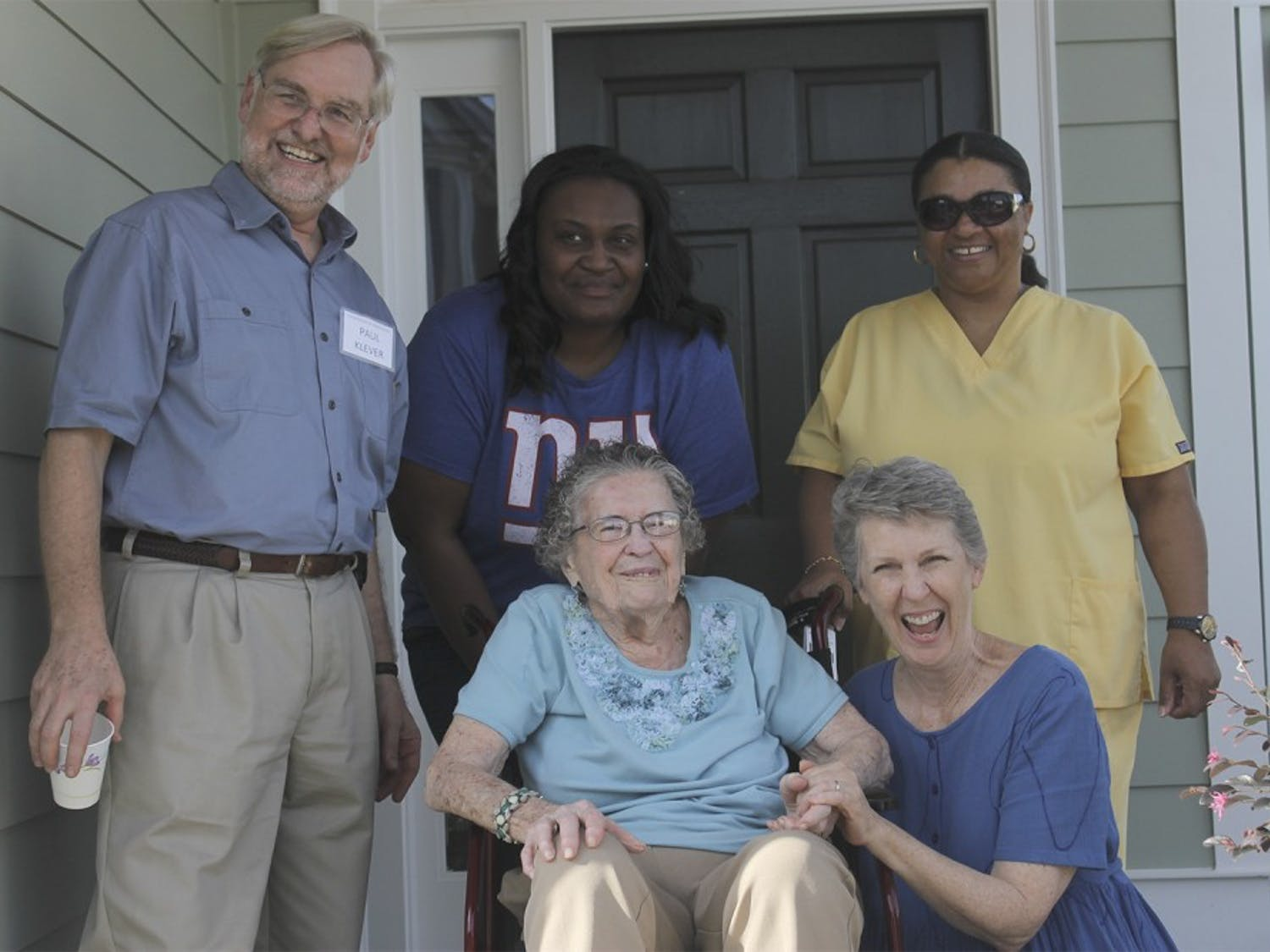 Back row from left to right: Paul Klever (Program director), LaToya Olsten (Nursing Assistant), Cynthia Bailey (Certified Nursing Assistant)