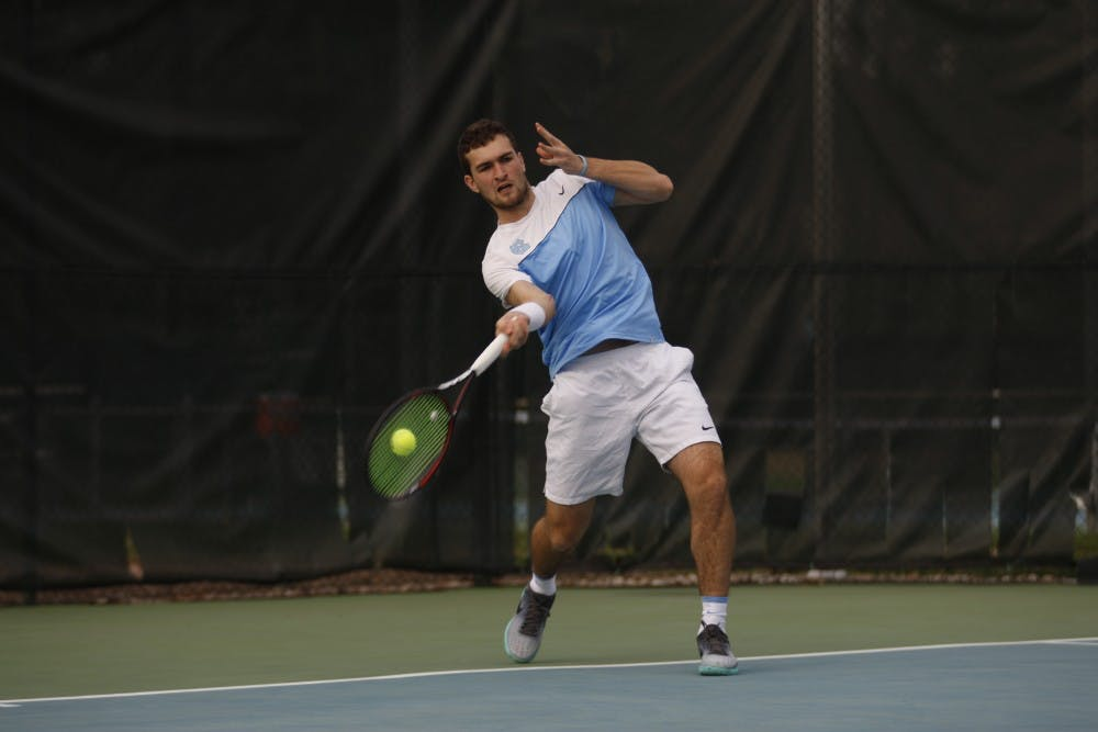 'They react to us': UNC men's tennis team stays positive in weekend back on home turf