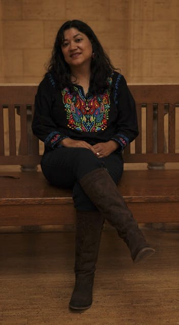 Reyna Grande, a visiting author, gave a lecture Thursday evening in Wilson Library about Hispanic Heritage month.
