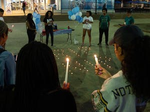 The Young Ethiopian Eritrean Tribe hosted a vigil commemorating the life of Eritrean American rapper Nipsey Hussle, who was shot outside of his clothing store in Los Angeles. The vigil took place on Wednesday, April 10, 2019 in the Pit. Members held candles and shared poems, art and words with one another about the rapper's death and legacy.