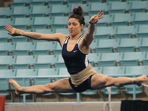Redshirt junior gymnast Meredith Magjuka battled back from breaking her L1 vertebrae in the fourth meet of her freshman season.
