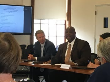 The Campus Safety Commission met on Wednesday with UNC Police Chief David Perry, who started the job on Tuesday.