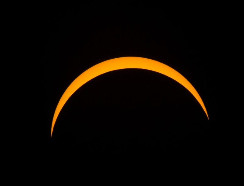 A total solar eclipse fell on the continental United States on Monday afternoon. Chapel Hill witnessed a partial eclipse with 92% of the sun blocked during peak coverage time at 2:43pm.