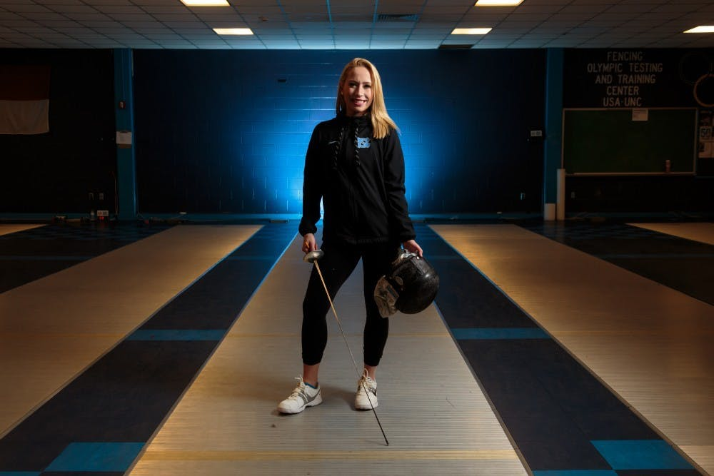 UNC women's fencer Sydney Persing is a quick learner, as a fencer and journalist