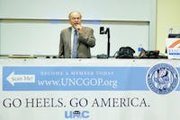 The UNC College Republicans hosted David Horowitz, who spoke on theIsraeli-Palestinianconflict and anti-semitism, Monday night in Carroll Hall.
