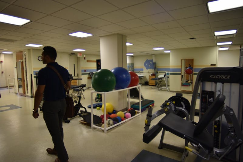 Acupuncture takes place in the physical therapy clinic of the James A. Taylor building.