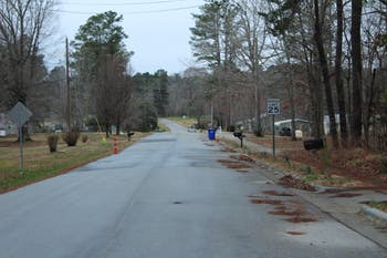 A residential neighborhood situated next to the Greene Tract on Sunday, Feb. 17, 2019.