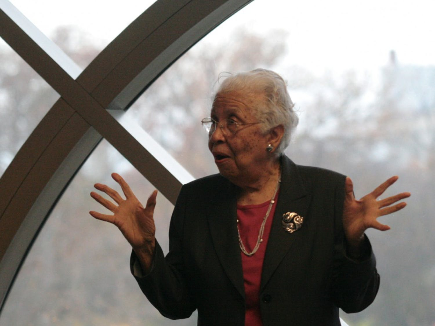 Hortense McClinton, the first black faculty member at the University,  spoke at the Parr Center for Ethics' Lunch and Learn program in the Tate-Turner-Kuralt Building on Tuesday at noon. McClinton was hired in 1966 as a professor in the UNC School of Social Work.