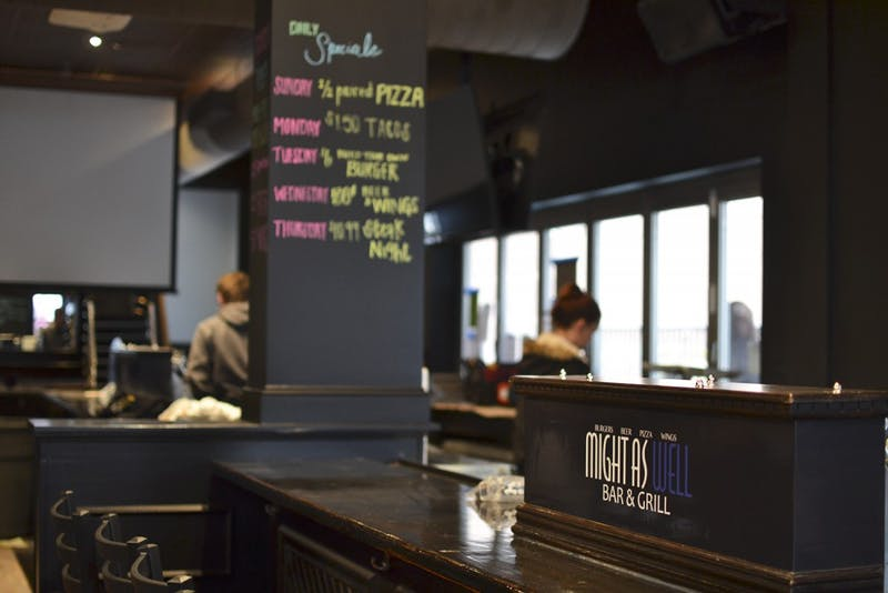 Once open, Might As Well Bar & Grill will offer inexpensive weekly deals on food and drinks and a lively ambiance for students.