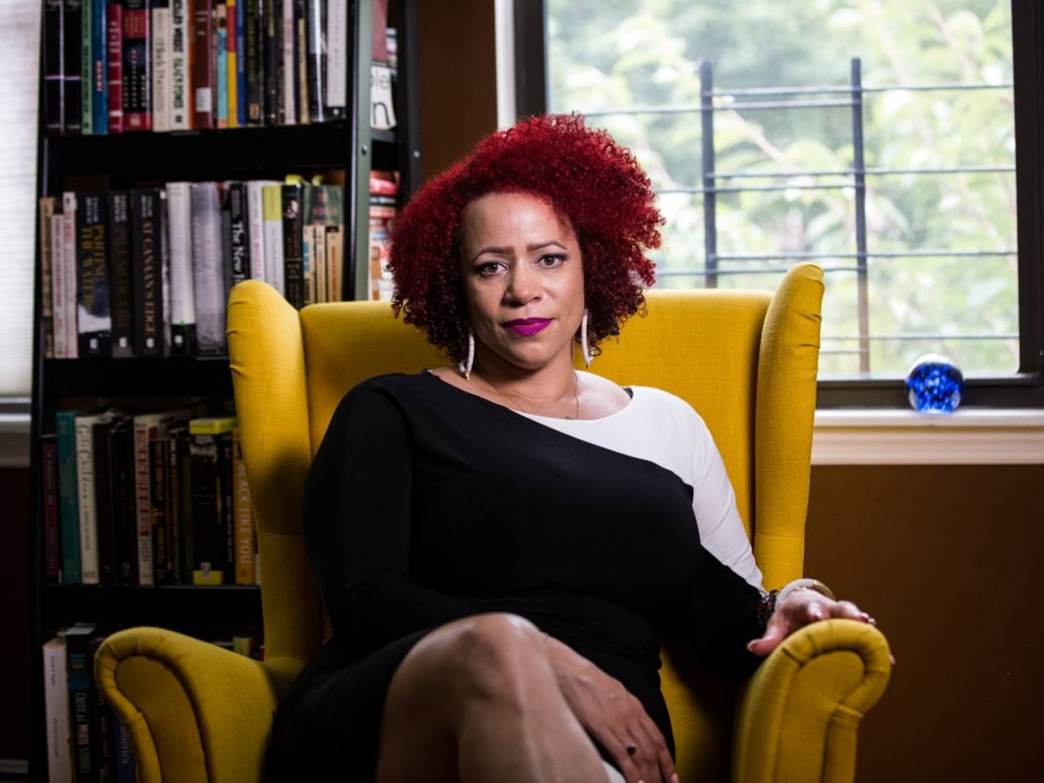 Photos are owned by the MacArthur Foundation and licensed under a Creative Commons license: CC-BY. Credit: John D. & Catherine T. MacArthur Foundation.  Photo is of Nikole Hannah-Jones
