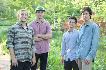(Left to right) UNC students Eric Sugraman, Steve Wood, Peter Joyce and Charlie Garnett formed Local Flora in 2017.