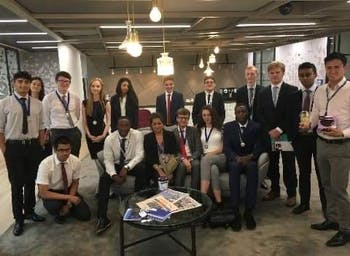 Summer interns at the company KPMG. Photo courtesy of Lucy-Rose Dyson.
