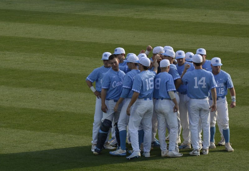 The North Carolina Tar Heels defeated NC State University in their first of three baseball games on Friday, April 14, 2017. The Tar Heels won 7-2.