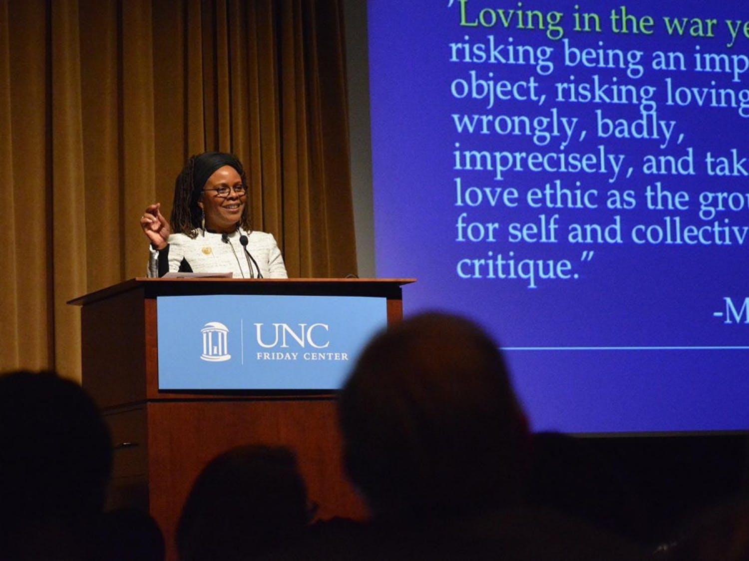 Keynote Speaker Chandra Ford spoke at the Minority Health Conference at the Friday Center on Friday.