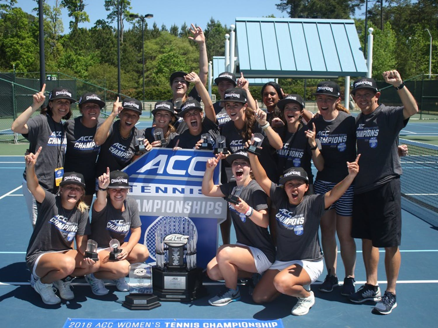 The UNC women's tennis team defeated the University of Miami 4-2 to capture the ACC Championship on Sunday in Cary.