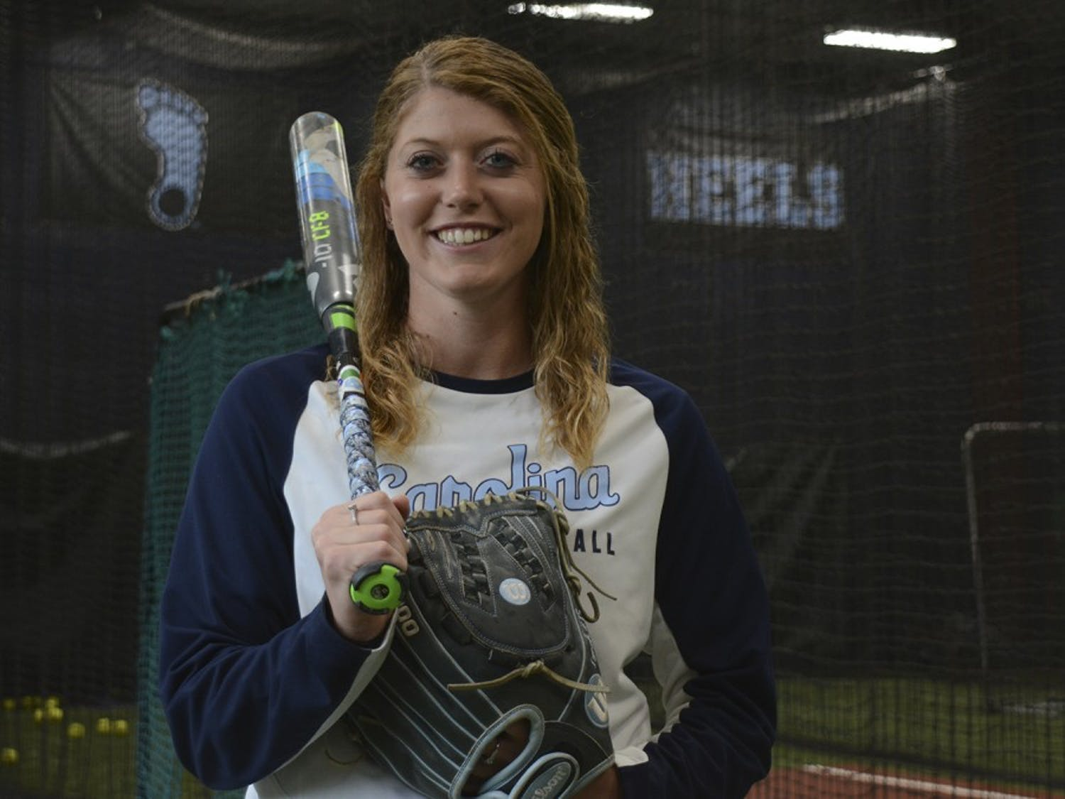 Kendra Lynch, a North Carolina softball pitcher, has excelled both at the plate and in the circle in her four years at UNC.