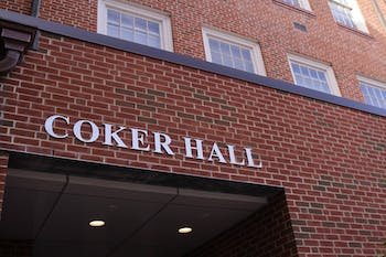 Coker Hall is home to the biology department.
