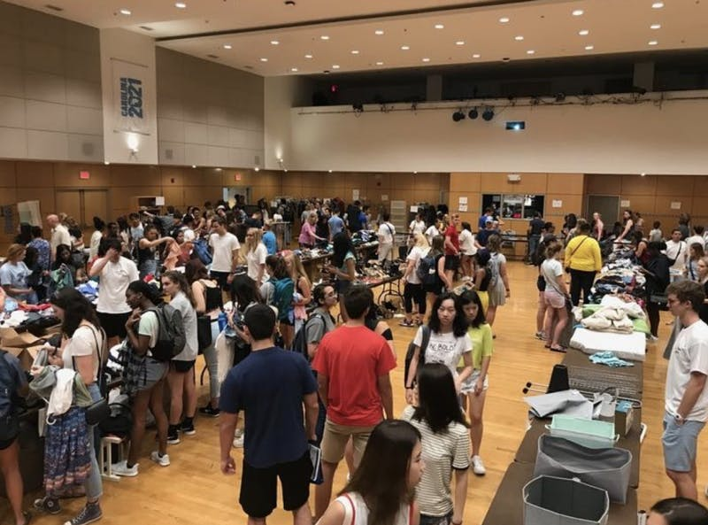 Carolina Thrift held its inaugural thrift sale in August in the Student Union. Photo by Tori Kimball.