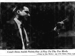 Former basketball coach Dean Smith in the March 7th, 1964 edition of The Daily Tar Heel.