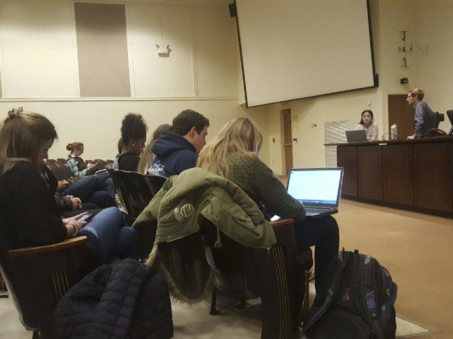 A meeting was held in Carroll Hall on Jan. 30 for students to announce their intent to run for student body president.