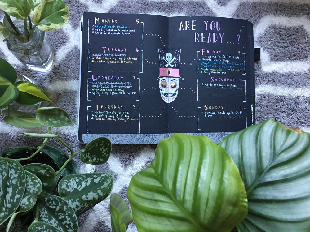 UNC YouTuber uses bullet journaling for self-care and personal growth