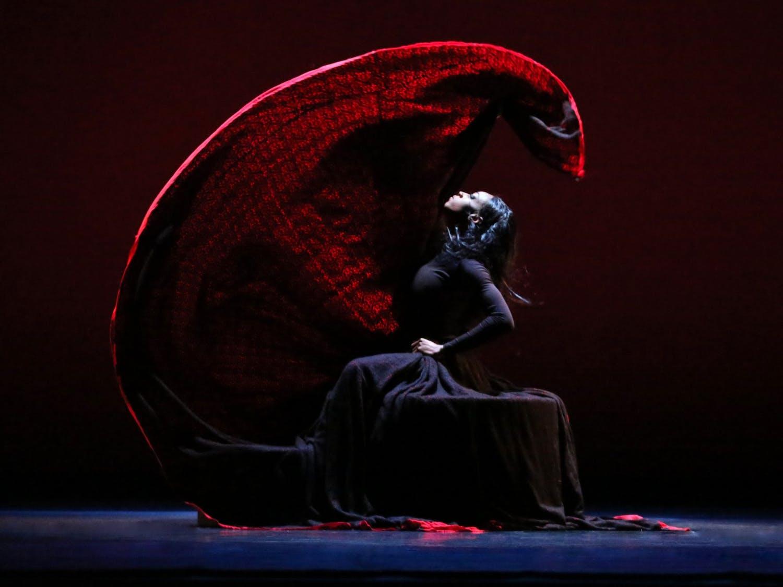 """LeslieAndreaWilliamsin a January 2020 performance ofMarthaGraham's""""Chronicle"""". Photo courtesy of MelissaSherwood."""