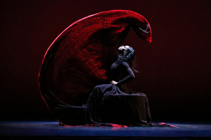 "Leslie Andrea Williams in a January 2020 performance of Martha Graham's ""Chronicle"". Photo courtesy of Melissa Sherwood."
