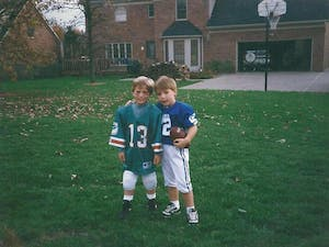 Logan Eberly is the brother of Keaton Eberly. The Super Bowl, and football in general, was a big part of the Eberly brothers' lives growing up.Photo courtesy of Keaton Eberly