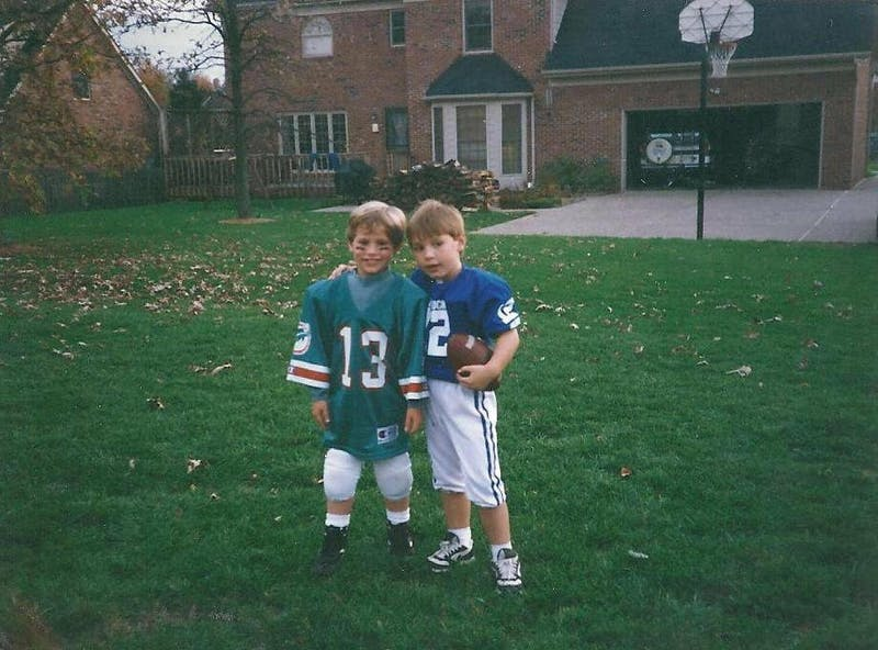 Logan Eberly is the brother of Keaton Eberly. The Super Bowl, and football in general, was a big part of the Eberly brothers' lives growing up. Photo courtesy of Keaton Eberly
