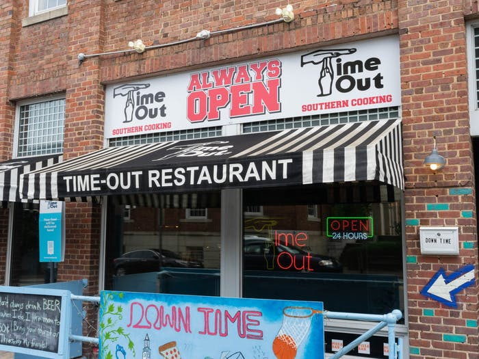 Time-Out sits on Franklin Street in Chapel Hill on Thursday, June 10th, 2021.