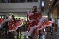 The UNC Media & Journalism school held a public viewing of their collaborative documentary project, Uprooted, on the crisis in Venezuela at the FedEx Global Education Center on Tuesday, April 23, 2019. A local Venezuelan dance group performed during the reception before the screening.