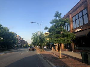 Franklin Street as pictured on Monday, May 18, 2020. With Chapel Hill entering Phase 2 of COVID-19 recovery, businesses on Franklin will begin to reopen and some life will return to Franklin Street.