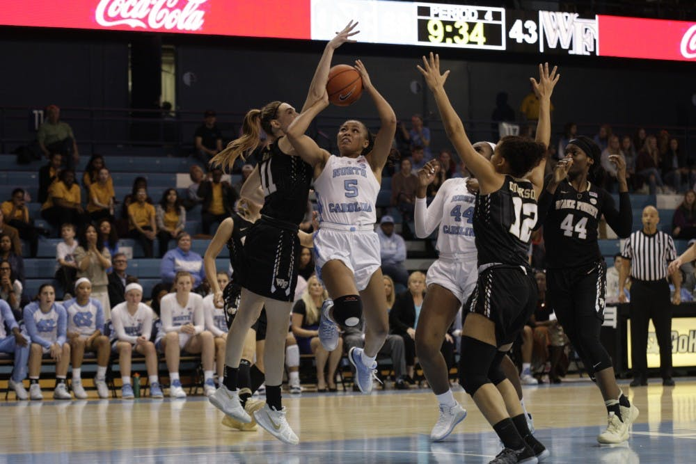 Fast start propels UNC women's basketball to first conference win against Wake Forest