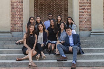 Students behind the efforts to establish an Asian American Center on Sunday, Sept. 22, 2019. Photo courtesy of Liezel Alipio.