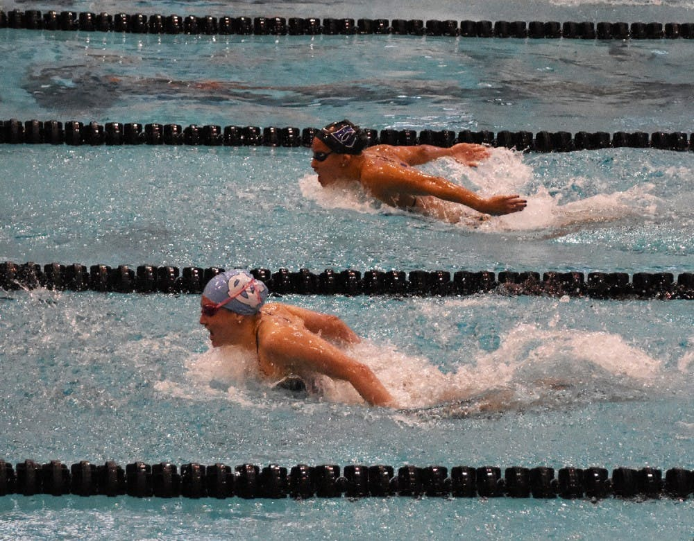 UNC swimming and diving swept by rivals despite senior success