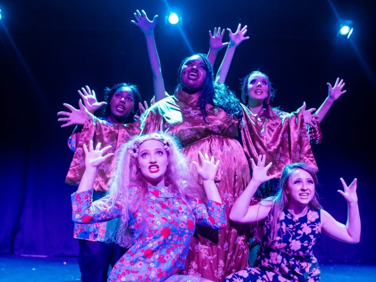 "Members of Company Carolina perform in its 2019 production of ""Sweet Charity,"" co-directed by Bradley Barefoot and Kayley Carpenter, assistant directed by Kathryn Brown. Photo courtesy of Kathryn Brown."