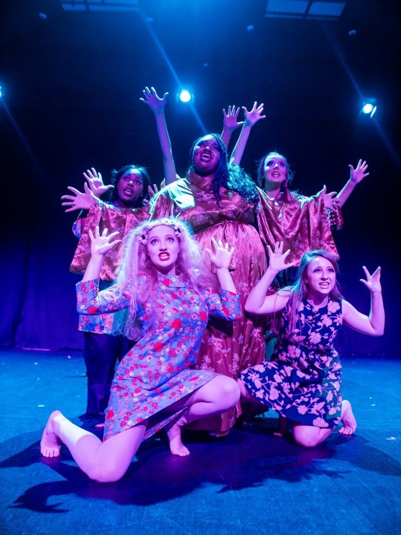 """Members of Company Carolina perform in its 2019 production of """"Sweet Charity,"""" co-directed by Bradley Barefoot and Kayley Carpenter, assistant directed by Kathryn Brown. Photo courtesy of Kathryn Brown."""