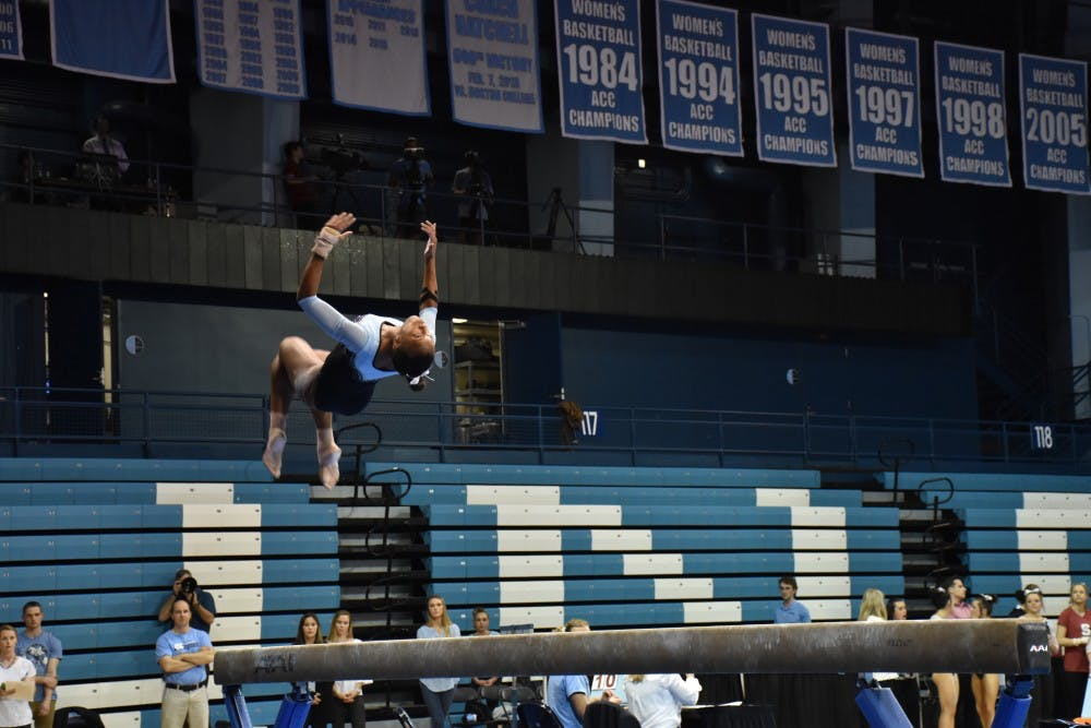 UNC gymnastics begins 2019 season with sweep in Lindsey Ferris Invitational
