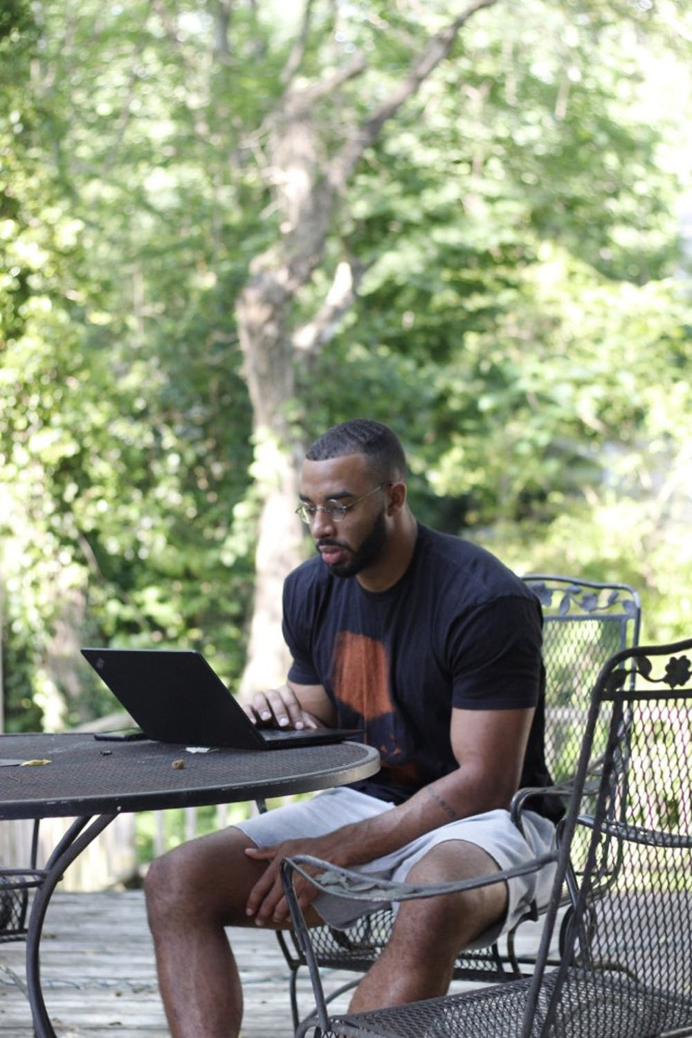 <p>Jake Lawler sitting down to write.&nbsp;</p> <p>Photo courtesy of Jake Lawler.</p>