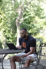 <p>Jake Lawler sitting down to write. </p> <p>Photo courtesy of Jake Lawler.</p>