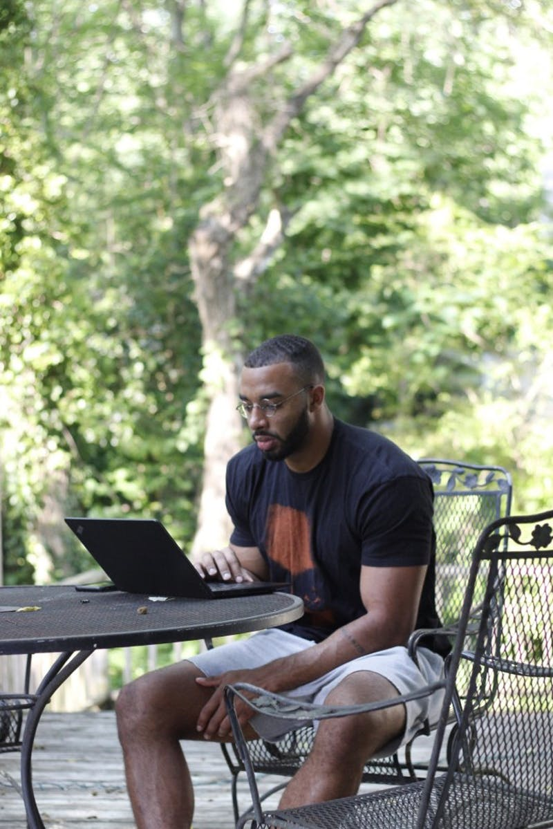 Jake Lawler sitting down to write.  Photo courtesy of Jake Lawler.