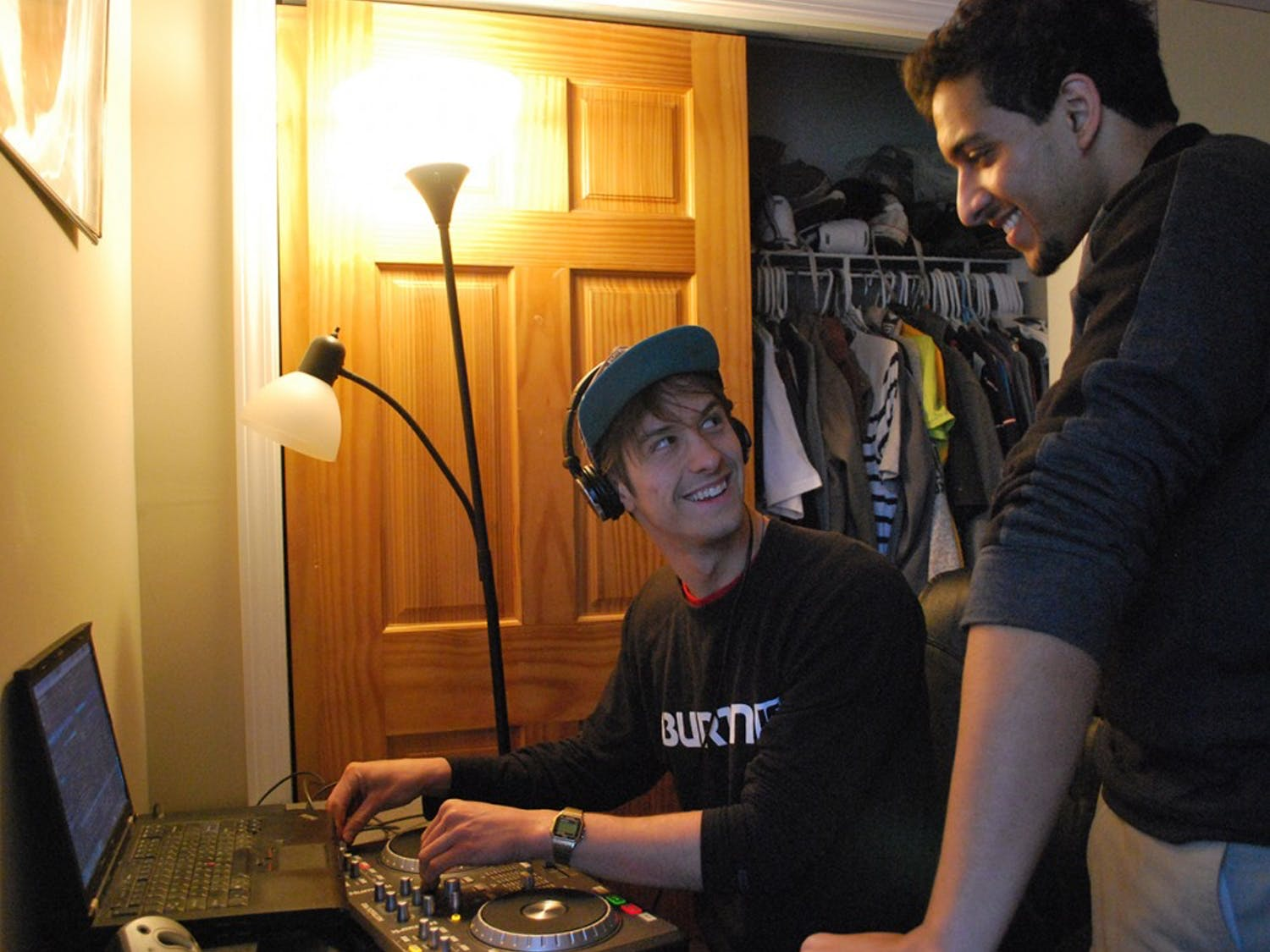 """Seniors Brandon Schell, DJ Bdo and Syem Barakzai, DJ Eskay have been mixing together since their sophomore year. Barakzai says his favorite part of being a DJ is """"throwing on a track you love and people coming out to dance to it.""""""""Throwing on a track you love and people coming out to dance to it,"""" Barakzai says on his favorite part about being a DJ."""