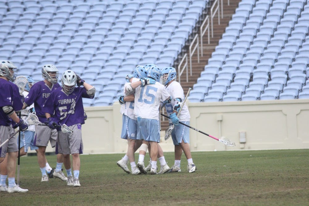 UNC men's lacrosse holds off Furman in 14-10 win