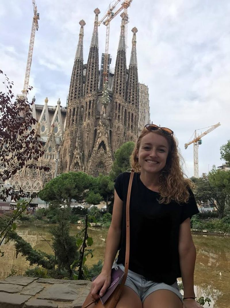 Kacey Rigsby, a junior, took a weekend trip to Barcelona before the Catalan Independence Referendum. Photo courtesy of Rigsby.