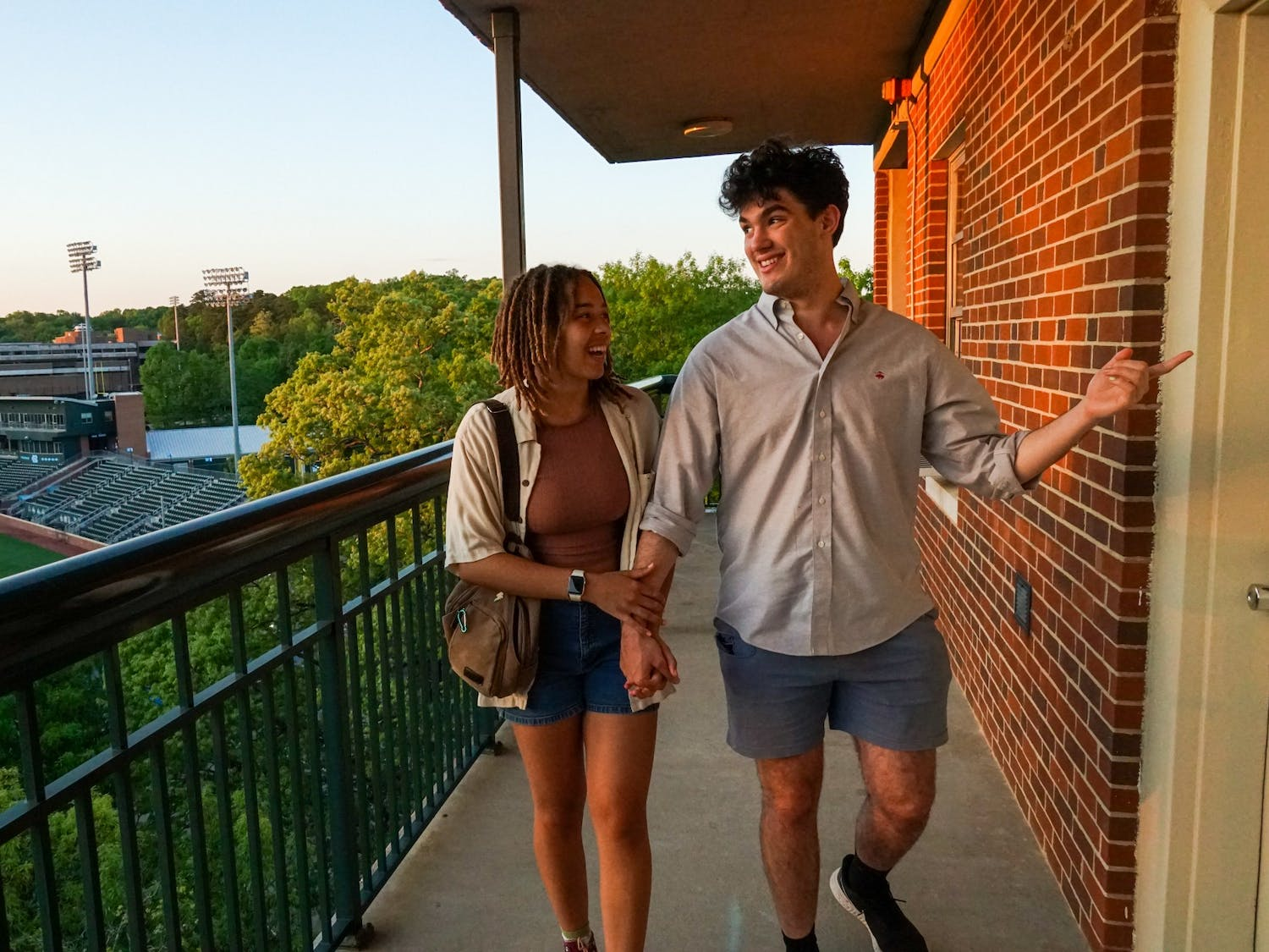Isaiah McCleod and Kaelyn Wall are two first-year students  who met in the fall semester and are currently dating. COVID-19 has presented challenges, but also brought them together.
