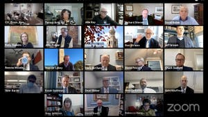 Screenshot of the Board of Trustees meeting held over Zoom on Thursday, Jan. 28, 2021.