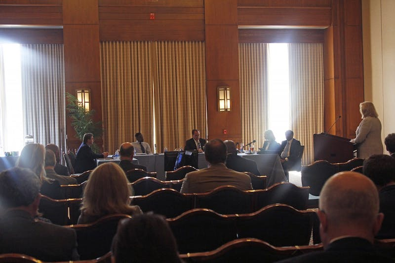 The Board of Trustees met in the George Watts Hill Alumni Center on Wednesday and Thursday.