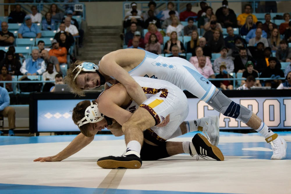 'We want titles': UNC wrestling not letting loss to Arizona State deter postseason hopes
