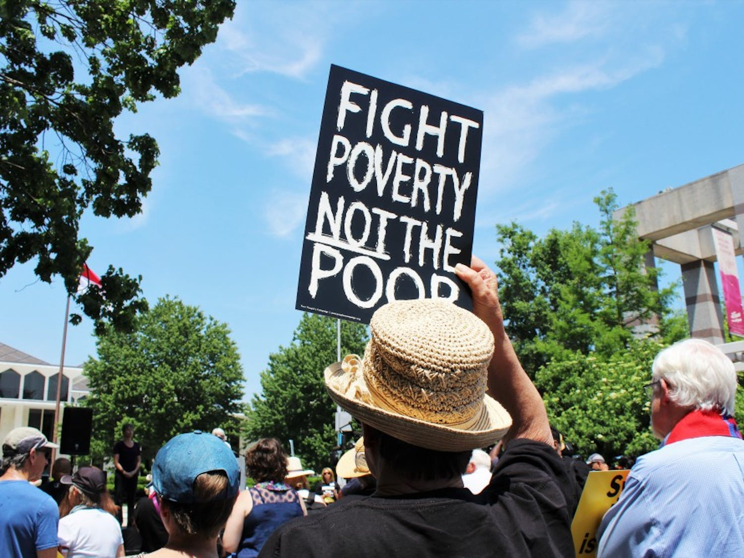 North Carolina Poor People's Campaign staged a protest in downtown Raleigh on May 14.